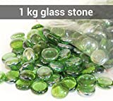 Tiedribbons&Reg; Glass Vase Filler Big Size Pebbles for Aquarium and Decoration (1 Kg, Green)