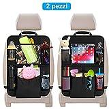 Protezione Sedile Auto Bambini laxikoo 2 pezzi Organizer Bambino per Sedile Auto con Multi-tasca Organizzatore Sedile Posteriore Auto Organizzatori Impermeabile Supporto per iPad/Tablet 10''
