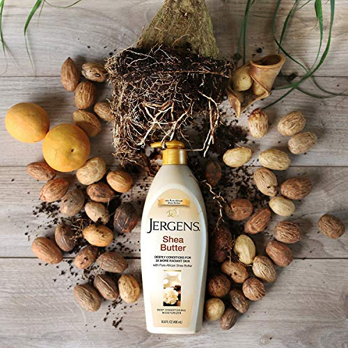 JERGENS CONDITIONS & ENRICHES WITH SHEA BUTTER DEEP CONDITIONING MOISTURIZER BODY LOTION 621 mL