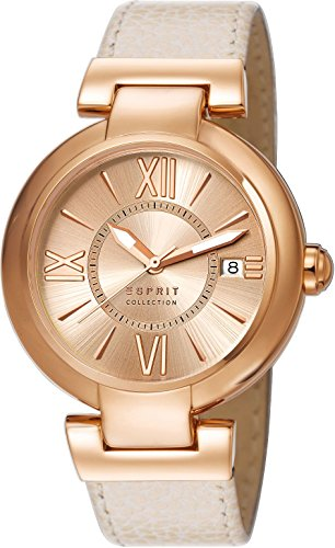 Esprit Collection Damen-Armbanduhr Aletheia Analog Quarz Leder EL102012F04