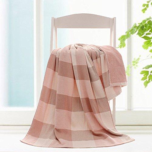 Puro Cotone garza ispessimento assorbente Asciugamani ( Colore : Rosso ) Rosso