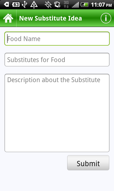 Food Substitutes Capture d'écran