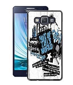 Fuson PVC-2D Metallic Pinted World Designer Back Case Cover for Samsung Galaxy A5 SM-A500F-D1122
