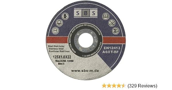 SBS Trennscheiben 30 Stück Inox 125 mm x 1 mm Edelstahl Metall Flexscheibe SB40