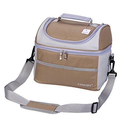 Borsa termica porta pranzo borsa frigo isolata - tyidalin tote termico cerniera cooler bag sacchetto per picnic, viaggio, scuola e lavoro