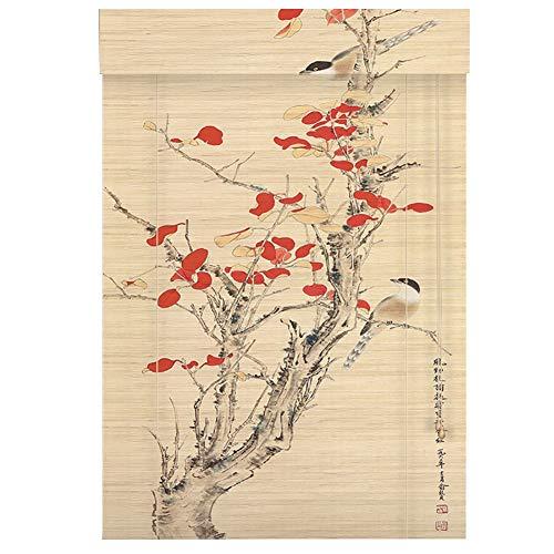 """Persianas enrollables Madera de Estilo japonés, persianas Verticales, para Ventanas y Puertas, desmayo de bambú, 110 × 225 cm (43.3\""""× 88.6\"""")"""