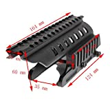 HongBest Tactical 20mm double Picatinny 165mm length rail mounting system for Remington 870 RM870 12 Ga