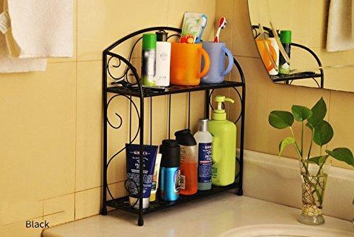 Sed scaffali mensola da bagno mensola da bagno in ferro mensola da bagno vanity lavabo da pavimento cucina scaffalatura scaffalatura multistrato,nero