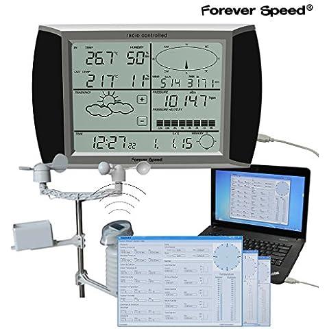 Forever Speed professionale stazione meteorologica, ws1080 velocità del vento, precipitazioni,
