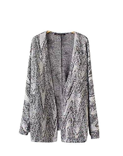 Molly Donna Casual Morbido Knitted Maglione Cardigan Cappotto L Come Immagine