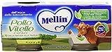 Mellin - Omogenizzato con carne di Pollo e Vitello con Verdure - 160 g - [confezione da 12]