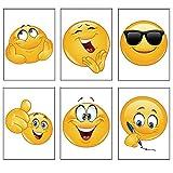 12 x Kleine Notizblöcke mit süßem Emoji motiv, für Kinder, 6 verschiedene Designs. Ideal als Geschenk für die ganze Klasse zum Schuljahresende oder zum Füllen von Geschenktüten