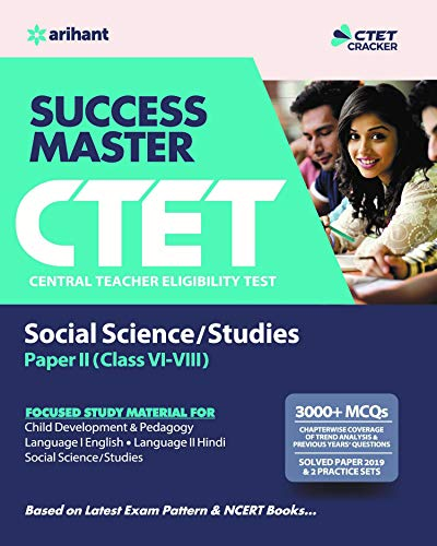 CTET Success Master Science Social/Studies Paper-II  for Class 6 to 8 2019