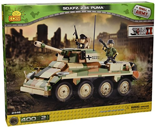 Preisvergleich Produktbild COBI 2446 - Konstruktionsspielzeug, SD KFZ 234 Puma, grün/beige