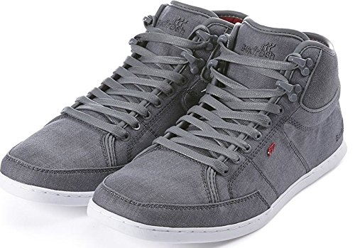 Boxfresh Swich Grey Red White Half Cab Mens Trainers Shoes-7