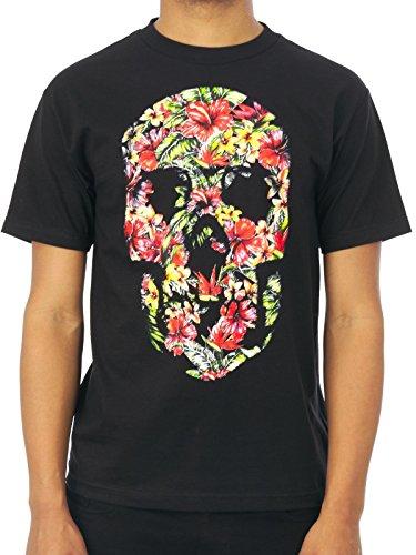 T-Shirt Famous Stars And Straps Hibiscus Skull Nero (S , Nero)