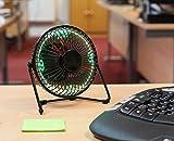 The Source 52609 Desktop LED Clock Fan