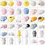 Fuhaoo 36 pcs Squishy Animales Kawaii de Silicona, Squishy Animales para Niños,Suave y no Tóxica