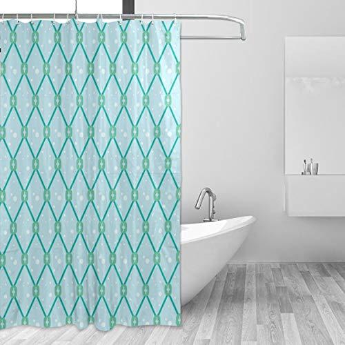 WENYAO Bad Umweltfreundliche Blau Fischnetz Nahtlose Muster Wasserdicht Polyester Duschvorhang Wohnkultur 60 'x 72' -
