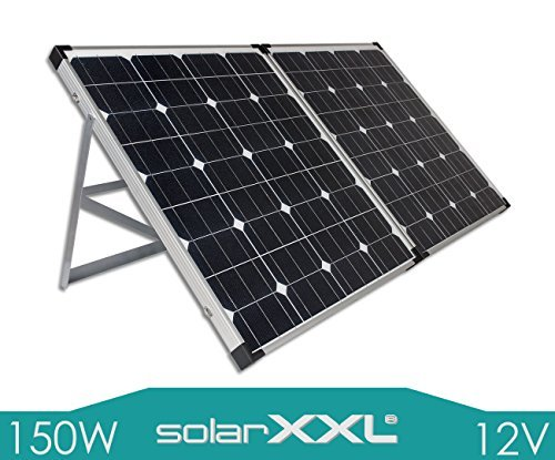 150W Watt Solarkoffer Monokristallin12V Volt Solarmodul Solarpanel - Solar - Mono - Camping - solarXXL