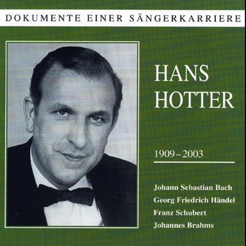 Bach/Haendel/Schubert/Brahms : Lieder und Arien. Hotter.