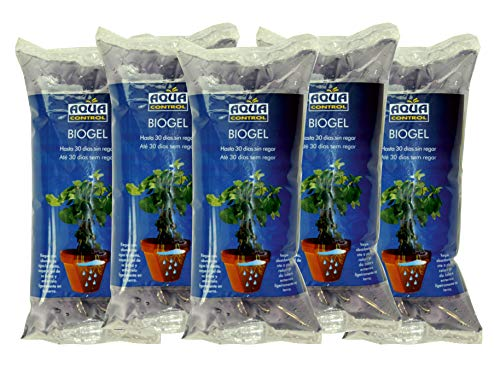 AQUA CONTROL biogel. Irrigation en Vacances Simple et sans complications Lot de 5 Multicolore