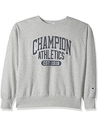 Champion Men's Heritage Fleece Sweatshirt, Oxford Gray/Umbrella Arch, 2X-Large