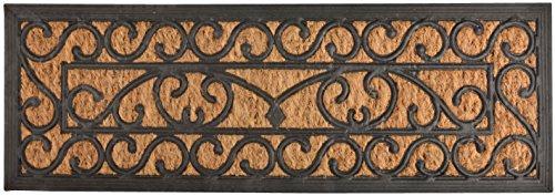 Esschert Design RB168 Tür-/ Stufenfußmatte, Kokosfaser, Gummi, schwarz/braun, 75 x 25 x 0.9 cm