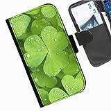 Hairyworm- Blumen Seiten Leder-Schützhülle für das Handy HTC Desire Eye