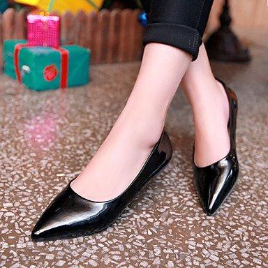 Confortevole ed elegante piatto scarpe scarpe donna tacco Punta Appartamenti Esterni / Ufficio & Carriera / Casual nero / blu / giallo / verde / rosso / Beige beige