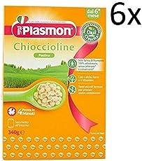 6x PLASMON pastina chioccioline Babynahrung nudeln ab 6 Monaten 340g