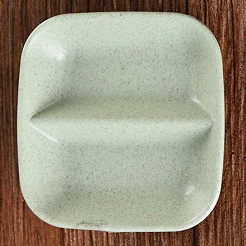 No brand Vassoio della plastica delle stoviglie del Piatto del Dessert del Piatto da Dessert della Piastra a Colori della Doppia Grata Quadrata della casa