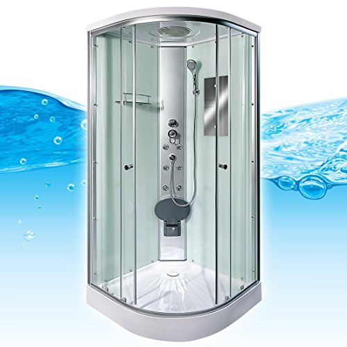 AcquaVapore DTP10-2000 Dusche Duschtempel Duschkabine Fertigdusche 100x100, EasyClean Versiegelung:OHNE 2K Scheiben Versiegelung