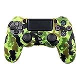 Playstation 4 Silikonhülle grün Camouflage (4) /PS4