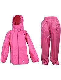 DRY KIDS Waterproof Suit - Comprising of Waterproof Packaway Jacket and Waterproof Trousers