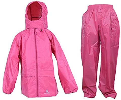 Dry Kids jacket and trouser set raspberry pink 2yrs