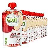 Good Goût - BIO - Gourde de Purée de Fruits Pomme Gala dès 4 Mois 120 g - Pack de 10...