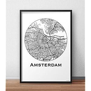 Plakat Amsterdam Niederlande Min