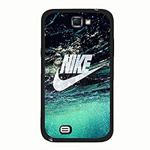 Fashionable Nike Phone Case For Samsung Galaxy Note 2 N7100 Crystal Nike Pattern