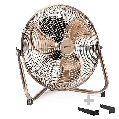 TROTEC TVM 11 Bodenventilator Kupfer Design Ventilator/Windmaschine inkl. Wand- und Deckenhalterung