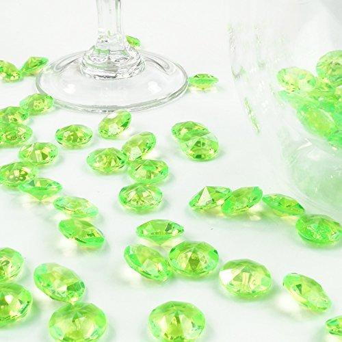 Deko-Diamanten 12 mm hellgrün 100 Stück - Streudeko Deko Steine Kristalle Diamanten