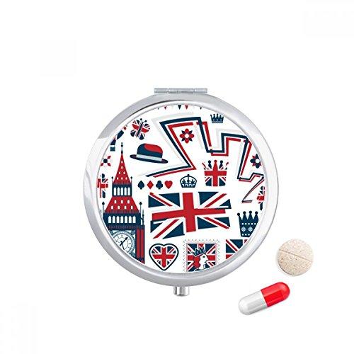 diythinker Tower Big Ben Ballon Soldier UK Landmark Flagge Travel Pocket Pille Fall Medizin Drug Aufbewahrungsbox Spender Spiegel Geschenk