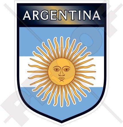Argentinien Argentinische Shield 100mm (10,2cm) Vinyl Bumper Aufkleber, Aufkleber
