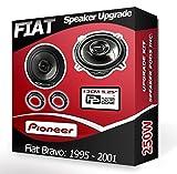 FIAT BRAVO hinten Seite Regal Lautsprecher Pioneer Auto-Lautsprecher + Adapter Pods 210W