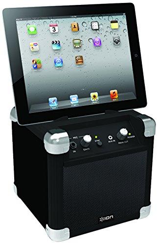 ION Audio Road Rocker | Ultra kompaktes Lautsprechersystem für iPad/iPhone/Android - wiederaufladbar und inkl. Powerbank für Smartphones und andere tragbare Geräte