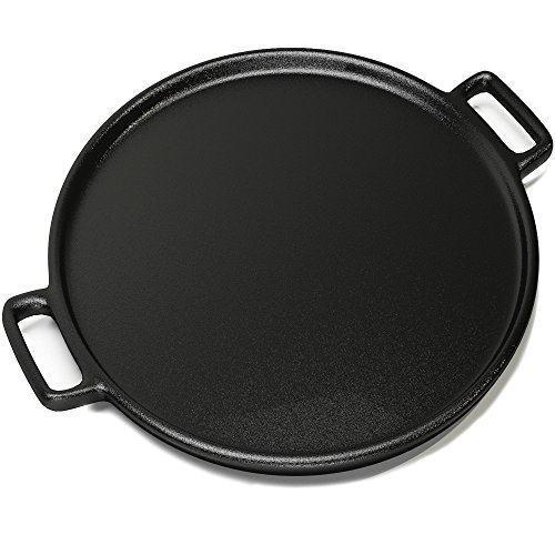 Image of Cast Iron Pizza Pan 14 Inch - Evenly Bakes and Heat Your Pizza by Home-Complete