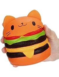Isuper Kawaii Chat Hamburger Squishy Stress Relief Squeeze