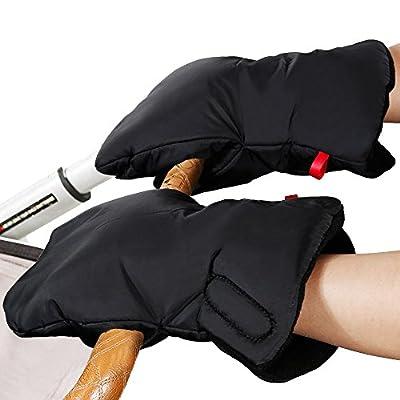 Rovtop Manoplas Carrito Bebe de Nylon Impermeable para cochecitos, coches eléctricos, manillar de bicicleta, guantes de protección de invierno prueba de viento