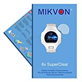 6x Mikvon SuperClear Displayschutzfolie für Alcatel OneTouch Go Watch - unsichtbar - Made in Germany