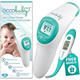 OCCObaby Clinical Non-Contact Baby Forehead Thermometer with Bonus Fast Flexible Tip Waterproof Digital Thermometer - H&PC-44153